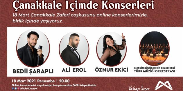 Mersin Büyükşehir, Konserler İle Evlere Konuk Oluyor