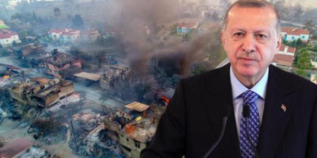 Erdoğan, yangın felaketiyle sarsılan Türkiye'ye uçak gönderen 4 ülkenin ismini açıkladı