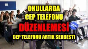LİSELERDE CEP TELEFONUNA ŞARTLI İZİN