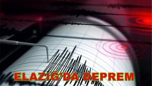 Elazığ'da 10 dakika içerisinde 3 deprem meydana geldi