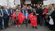PROTESTO EDİLDİ BASIN AÇIKLAMASI YAPILDI