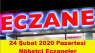Mersin Nöbetçi Eczaneler 24 Şubat 2020 Pazartesi