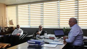 Başkan MükerremTollu Mersin Büyükşehir Belediye Başkanı Vahap Seçer'i Ağırladı