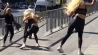 Dört kadın bir oldu, tartıştıkları adamı yol ortasında evire çevire dövdü