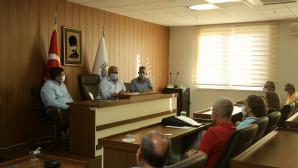 Başkan Tollu, Mersin Gazeteciler Cemiyeti Yönetimini Ağırladı