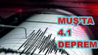 Muş'un Korkut ilçesinde 4.1 büyüklüğünde deprem meydana geldi