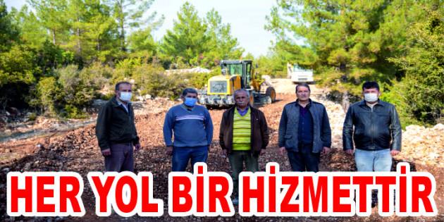 TOROS DAĞLARI'NIN ETEKLERİNDEN ZİRVESİNE YOL ÇALIŞMASISÜRÜYOR