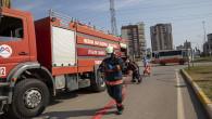 Mersin Büyükşehir'den Gerçek Gibi Kaza Tatbikatı