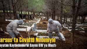 Tarsus'ta Covid-19 Nedeniyle Hayatını Kaybedenlerin Sayısı 616'ya Yükseldi