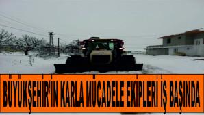 Mersin Büyükşehir, Kardan Kapanan Yolları Açtı