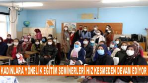 Akdeniz Belediyesi Kadınlara Yönelik Eğitim Seminerlerini Sürdürüyor