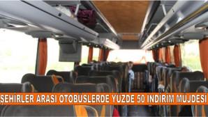 Şehirler Arası Otobüslerde Yüzde 50 İndirim Müjdesi! Yan Koltuk Ve Aile Tarifesi Geliyor