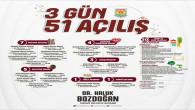 -TARSUS BELEDİYESİ 3 GÜNDE 51 HİZMET VE PROJENİN AÇILIŞINI YAPACAK