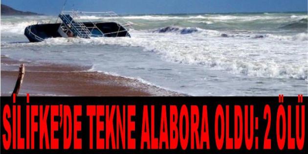 Mersin Silifke'de Tekne Alabora Oldu: 2 Ölü