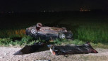 Elektrik Direğine Çarptıktan Sonra Şarampole Devrilen Otomobil İki Gence Mezar Oldu