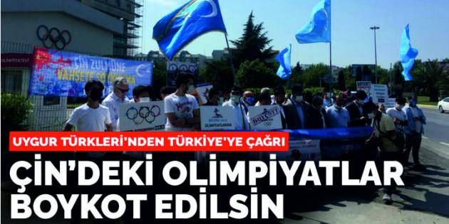 Uygur Türkleri'nden Türkiye'ye çağrı: 2022 Çin olimpiyatlarını boykot edin