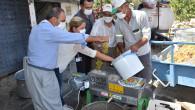 Tarsus Belediyesi'nden Vatandaşlara Üzüm Sıkma Ve Salça Makinası