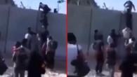 İran sınırında infial yaratan görüntü! Afgan mülteciler merdiven dayayarak güvenlik duvarını aştı