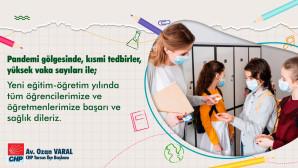 Chp Tarsus İlçe Başkanı Av. Ozan Varal: 'Okulsuz Olmaz! Eğitim Hakkı İnsan Hakkıdır.'