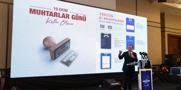 Mersin Büyükşehir, Muhtarlara Özel 'Teksin E-Muhtarım'ı Devreye Soktu